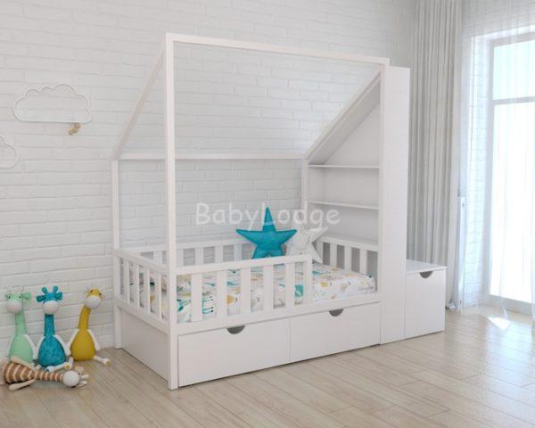 Кровать с мансардной крышей детская